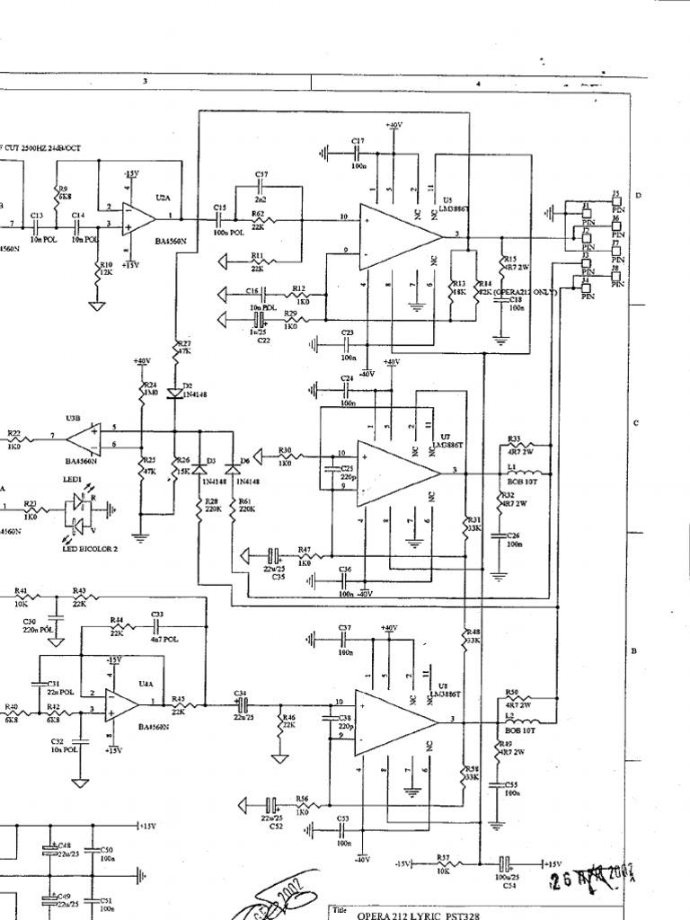 OPERA 212 LYRIC Schema Elettrico