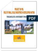 Project on Pbl Role of Small Scale Industries in Developing Nation