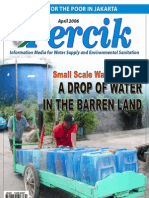 Small Scale Water Provider. Indonesian Water Supply and Sanitation Magazine. April 2006