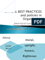 Ethical Best Practices Show