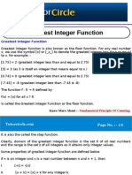 Greatest Integer Function