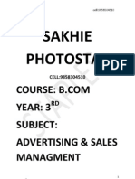 B.com Final Yr Advertising Nd Sales Mgt