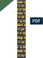 Guitar Scale A demi dminuée