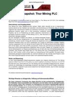 Company Snapshot Thor Mining, Juli 2012