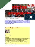 Noticias Uruguayas miércoles 25 de julio del 2012