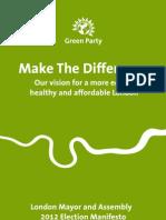 London Green Party manifesto 2012