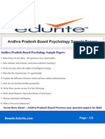 Andhra Pradesh Board Psychology Sample Papers