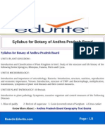 Syllabus for Botany of Andhra Pradesh Board