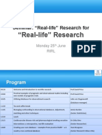 Real-Life Research Seminar 25June12