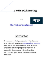 Vitamins to Help Quit Smoking