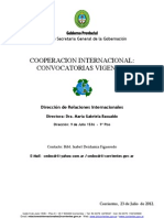 CONVOCATORIAS VIGENTES DE COOPERACION INTERNACIONAL