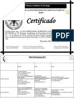 CERTIFICADO IV Semana Acadêmica de Psicologia