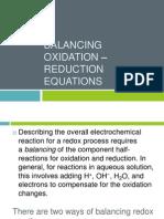 Balancing Oxidation – Reduction equations