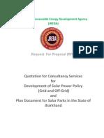 JREDA RFP for Solar Counsaltancy