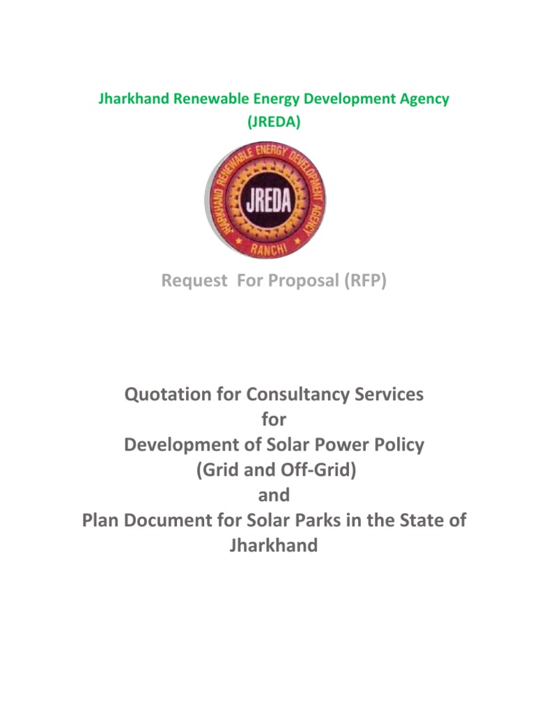 JREDA RFP for Solar Counsaltancy | Request For Proposal