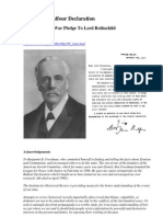 Behind the Balfour Declaration - Britain's Great War Pledge To Lord Rothschild