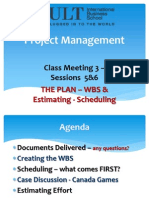 Cs3-WBS Estimating - Scheduling