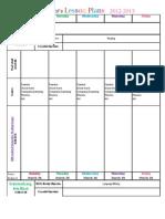2012-2013 Lesson Plan Format
