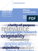 Foundations for Good Research