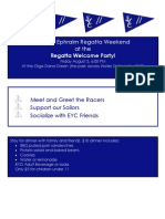 Ephraim Regatta Welcome Party Invite 2012