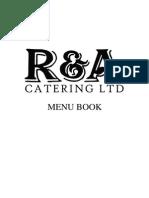 R&A Catering Menu London
