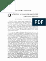 Astronomy in India in the twentieth century