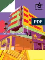 P.A. College Prospectus 2001-2012