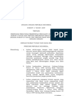 UU No. 6 Th 2009 Ttg BANK INDONESIA