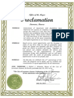 City Proclamation 7-2012