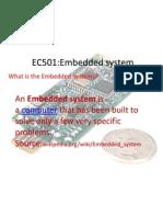 EC501-Embedded System Slide 1