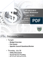 City of San Marcos 2012-2013 budget presentation