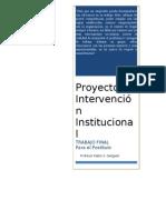 PROYECTO DE INTERVENCIÓN INSTITUCIONAL