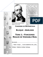 Cuaderno de Analisis Tema 1 Funciones Reales de Variable Real