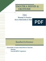 1 Pendahuluan Matematika Bisnis Ekonomi(2)
