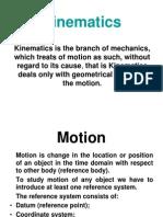 Kinematics Lecture 1  Particle