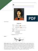Copernic 2012 - (Wikipédia) Biographie de Nicolas Copernic (1473-1543)
