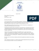 NYS Senator Storobin Writes To Bloomberg Opposing Mosque