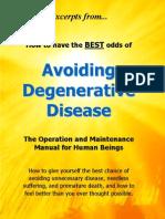 Don Bennett - Excerpts From... Avoiding Degenerative Disease