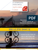 Attleboro Democracy Magazine, Health Issue, 2012