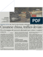 Cassanese chiusa, traffico deviato