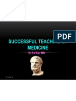 Successful teaching in Medicine