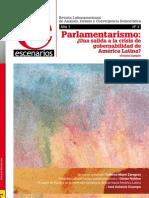 Revista Escenarios 2 - Parlamentarismo ¿Salida a la crisis de gobernabilidad en América Latina?