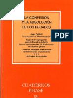 Cuadernos Phase 154 - La confesión y la absolución
