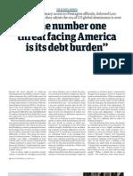 America Debt Burden