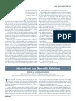 International Domestic Relations 2007