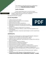 ORÇAMENTO DE TRABALHO DE ARQUITETURA modelo 2012