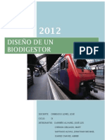 diseño de un biodigestor