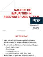 Analysis of Impurities in Feedwater and Steam