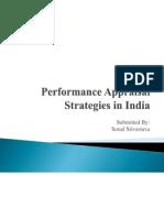Performance Appraisal Strategies in India