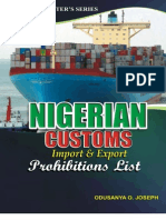Nigerian Customs Import and Export Prohibition List Guide